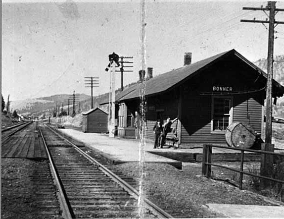 The Northern Pacific Depot in Bonner.